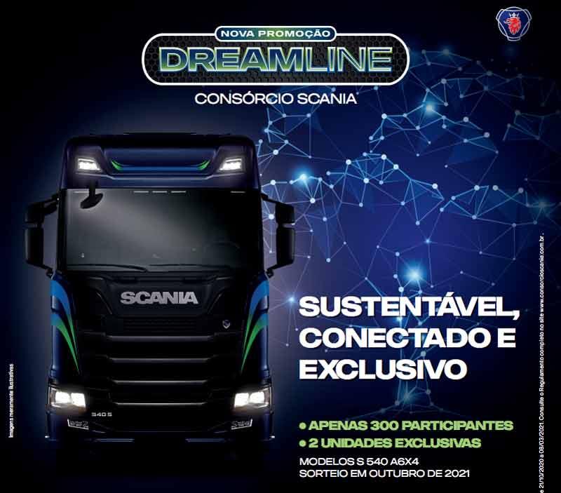Consórcio Scania lança a campanha DREAMLINE para 2021.